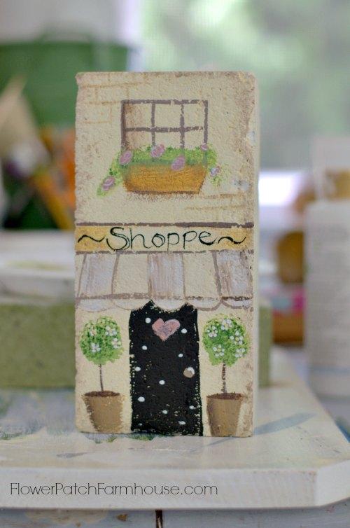 painted brick cottage, FlowerPatchFarmhouse.com