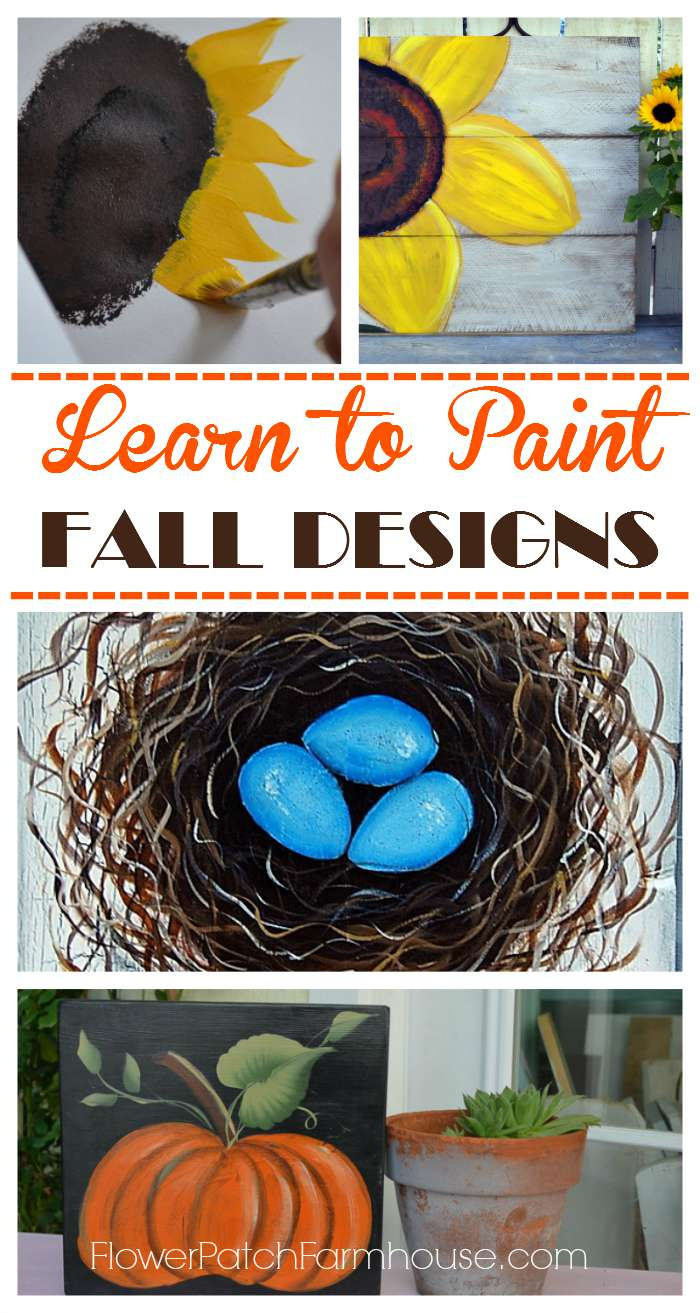 Tons of fabulous Fall aka Autumn painting tutorials and DIY projects.  Easy and fun for all the family! Create stylish fall decor.