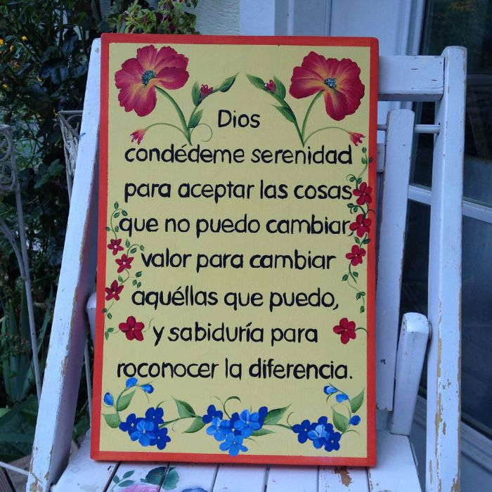 Hand Painted Serenity Prayer art, FlowerPatchFarmhouse.com