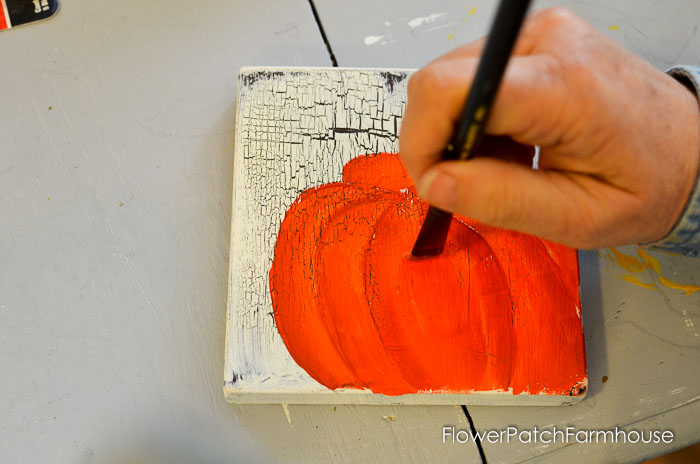 How to Paint an Orange Pumpkin, FlowerPatchFarmhouse.com-0018