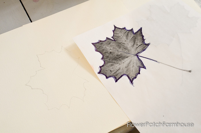 How to Paint Fall Leaves for colorful Autumn decor and crafts! FlowerPatchFarmhouse.com