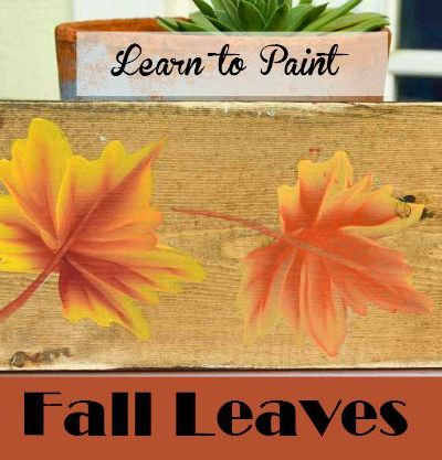 Learn How to Paint Colorful Fall Leaves, one stroke at a time. Make great Fall crafts for your home decor! FlowerPatchFarmhouse.com