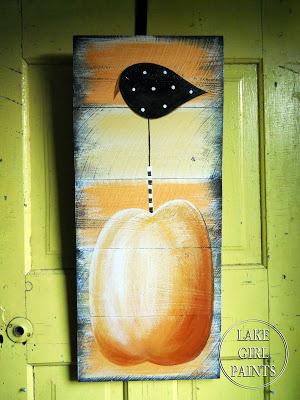 Pumpkin Crow Door Hanging