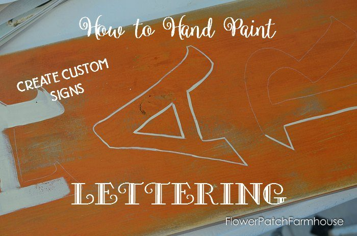 Fall DIY Harvest Sign, how to do hand paint lettering so you don't need a stencil