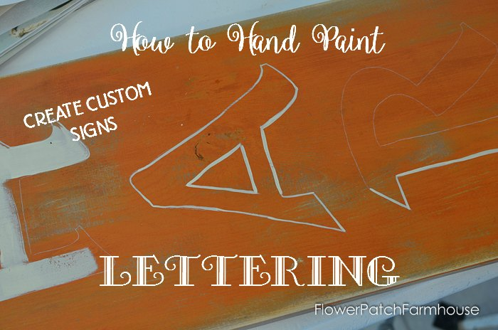 A Harvest Sign  How to Paint Lettering  Flower Patch