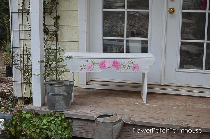 She shed garden cottage with bench on porch, How to Build a Sweetheart Bench