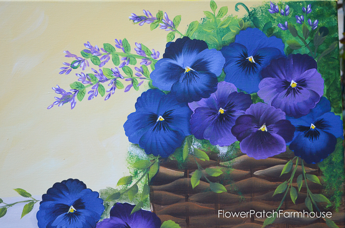 Blue and Purple Pansies in Basket, FlowerPatchFarmhouse.com (4 of 4)
