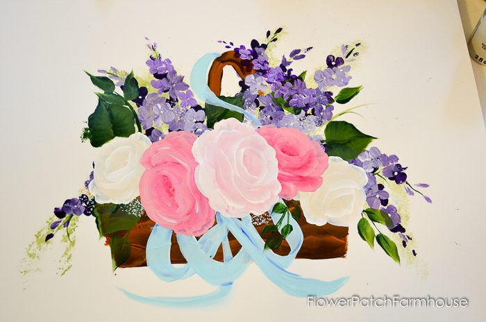 How to Paint a Flower Market sign or Flower Basket, FlowerPatchFarmhouse.com