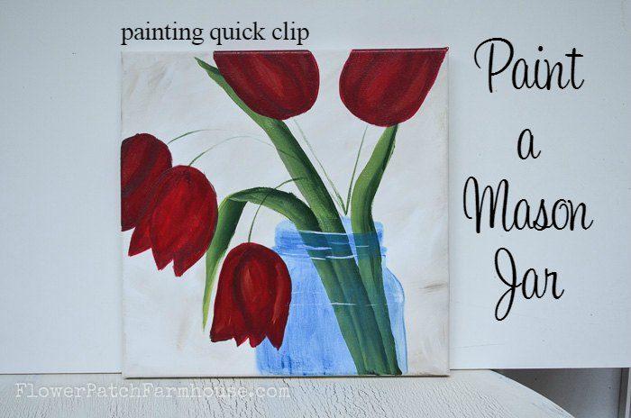 Paint a Blue Mason Jar, Title