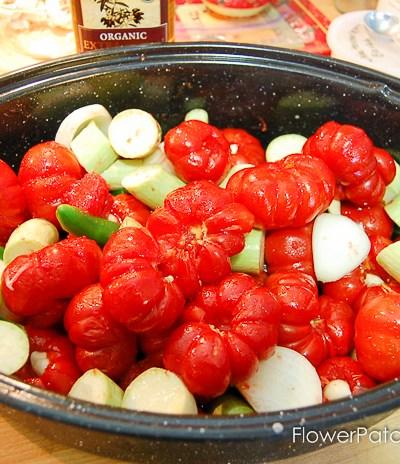 Superb oven roasted tomato sauce, use for marinara, pizza sauce or any tomato based dish.