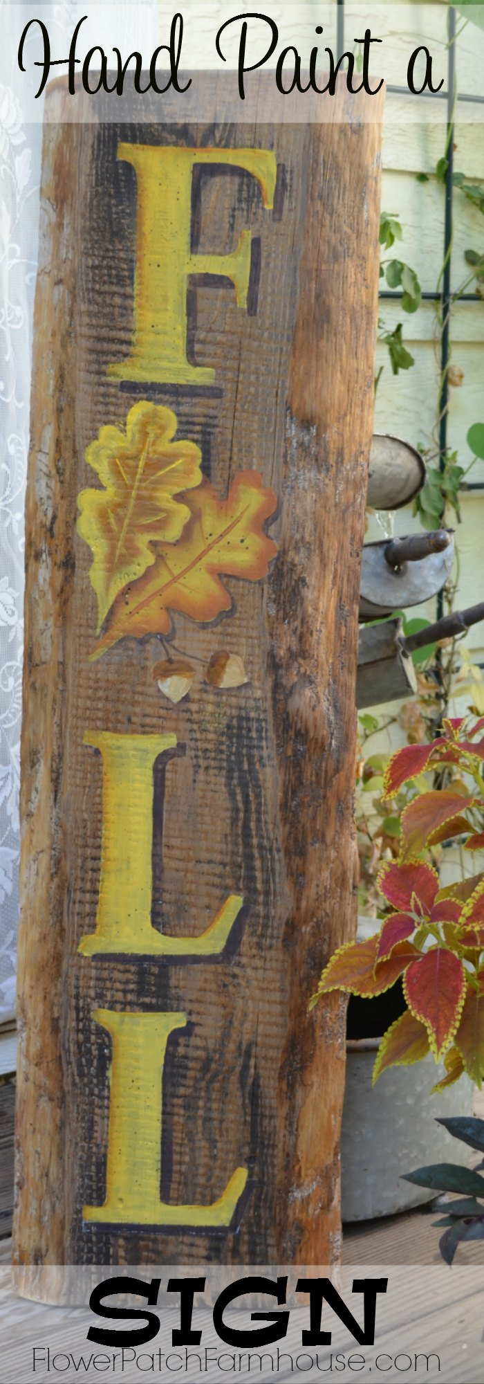 Diy Hand Painted Fall Sign Flower Patch Farmhouse