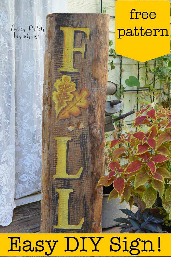 DIY Fall sign on front porch, Paint a DIY Fall Sign