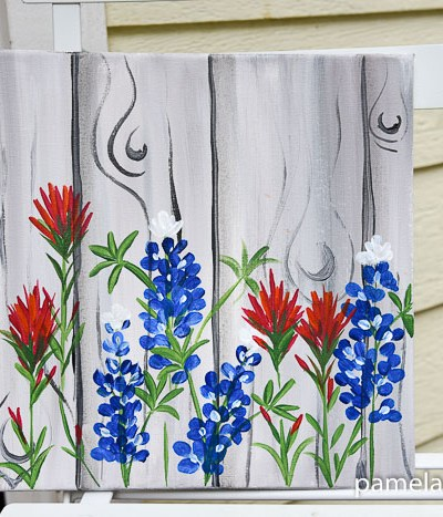 How to Paint Indian Paintbrush one stroke at a time. Easy beginner painting lesson in acrylics.