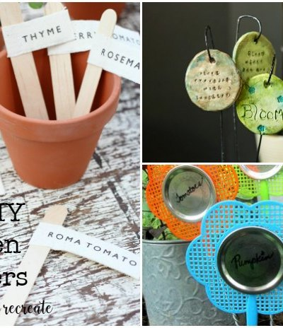 Ten DIY Garden Marker Ideas