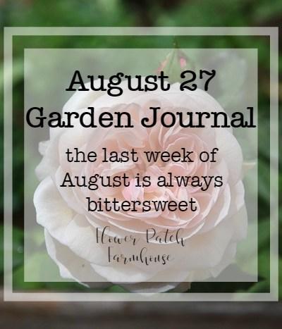 Garden Journal August 2018