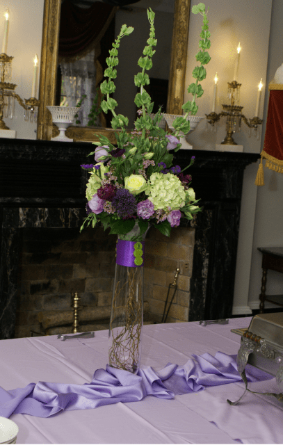Picture of tall wedding centerpieces with purple and white flowersPNG 1 comment HiRes 720p HD