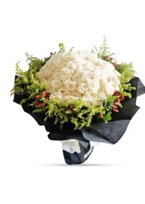 99 rose bouquet