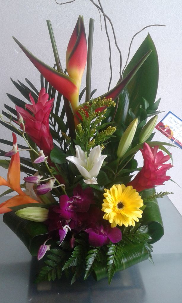 Tropical Birthday Flowers Flowers By Flores