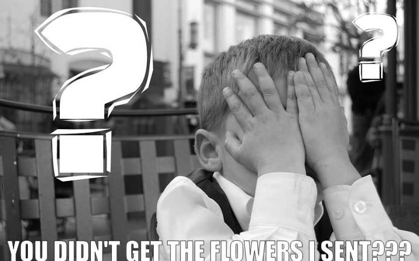 problems sending flowers