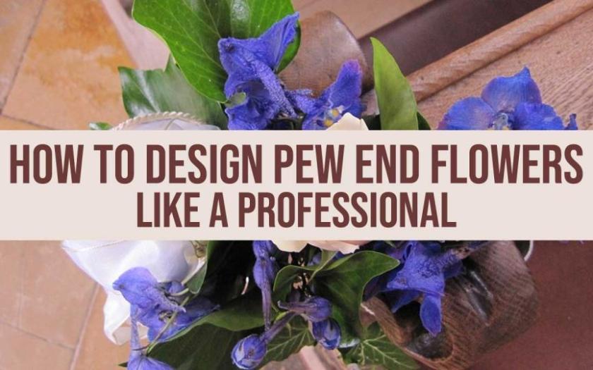 pew end flowers