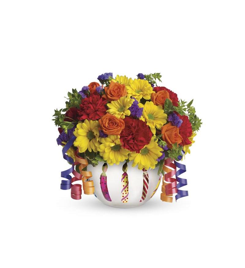 Telefloras Brilliant Birthday Blooms T28 1A 4676