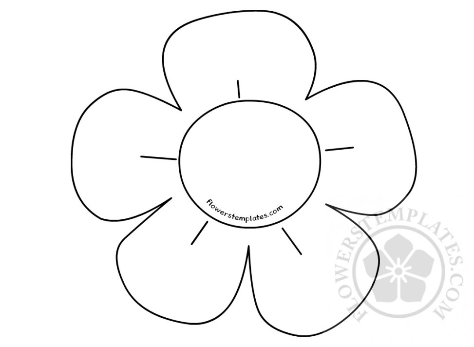 Simple Flower Drawings For Kids Flowers Templates