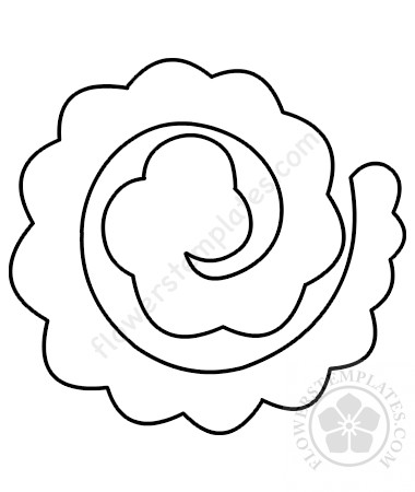 Rolled Paper Rose template