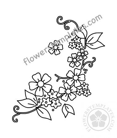 It's just a graphic of Printable Flowers Pattern with flower pattern drawing