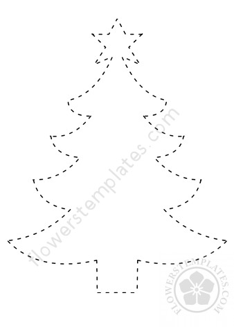 christmas tree tracing coloring page flowers templates christmas tree tracing coloring page