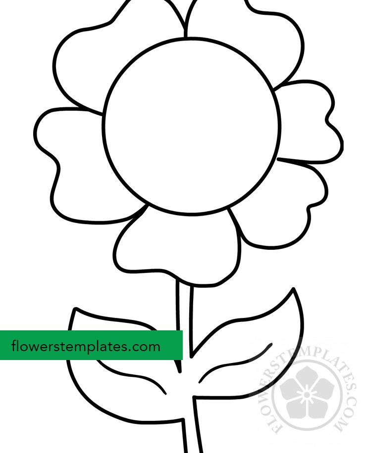 flower with stem coloring page  flowers templates