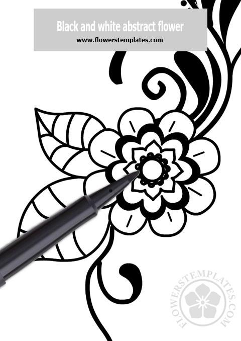 Mehndi flower pattern