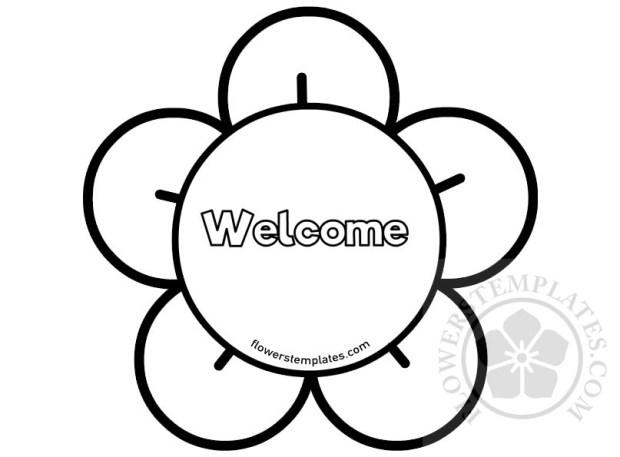 Flower Frame Welcome