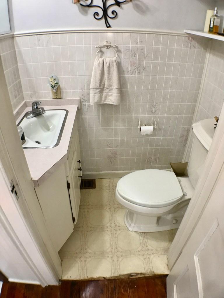 half bathroom renovation