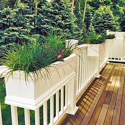 24 charleston hanging rail planters