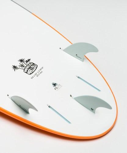 Flowt Marshmallow 56 Orange Bottom Tail Details