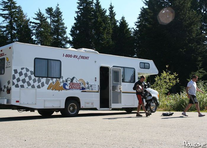 north vancouver mt. seymour parking lot rv motorhome