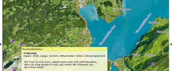 map.search.ch - Biketouren online