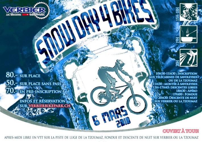 bikepark verbier snow day 4 bikes flyer
