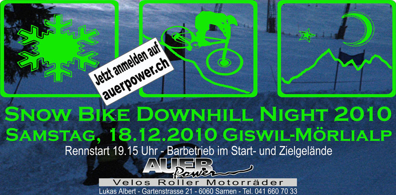 Snow Bike Downhill Night 2010 Flyer