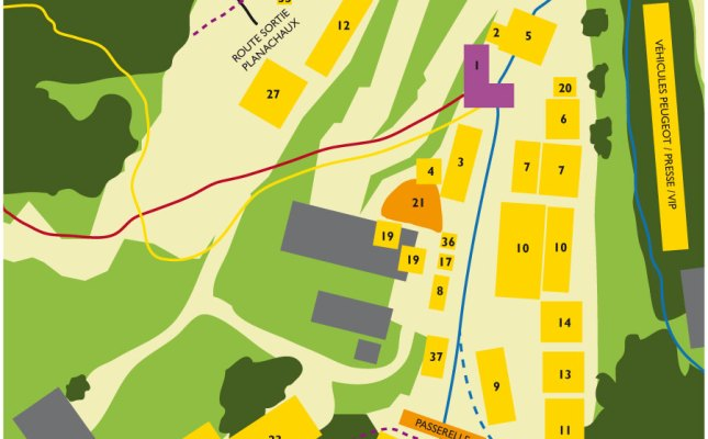 Downhill World Championships Champery 2011 Lageplan