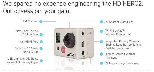 GoPro HD Hero2 - Features