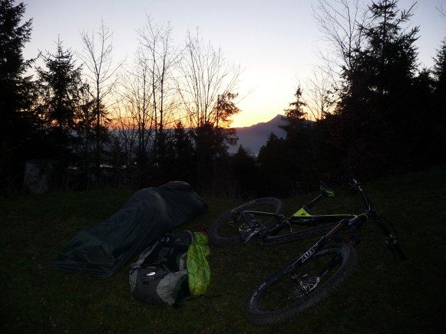 Bike Biwak Schweiz Krienseregg Morgensonne