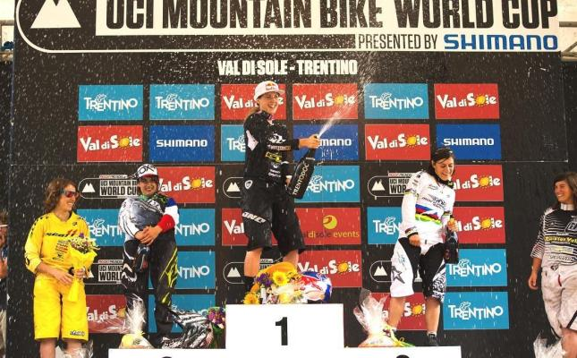Das Podium der Frauen in Val di Sole 2012 - by Sven Martin
