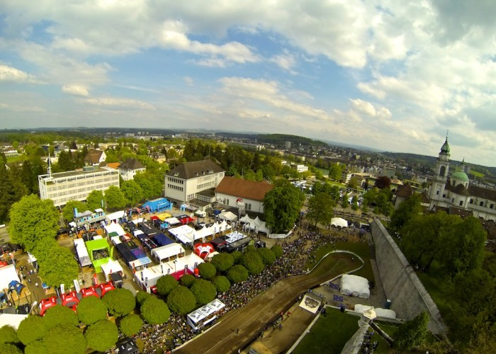 Bike Days 2013 Solothurn Luftaufnahme von oben Übersicht Luftbild