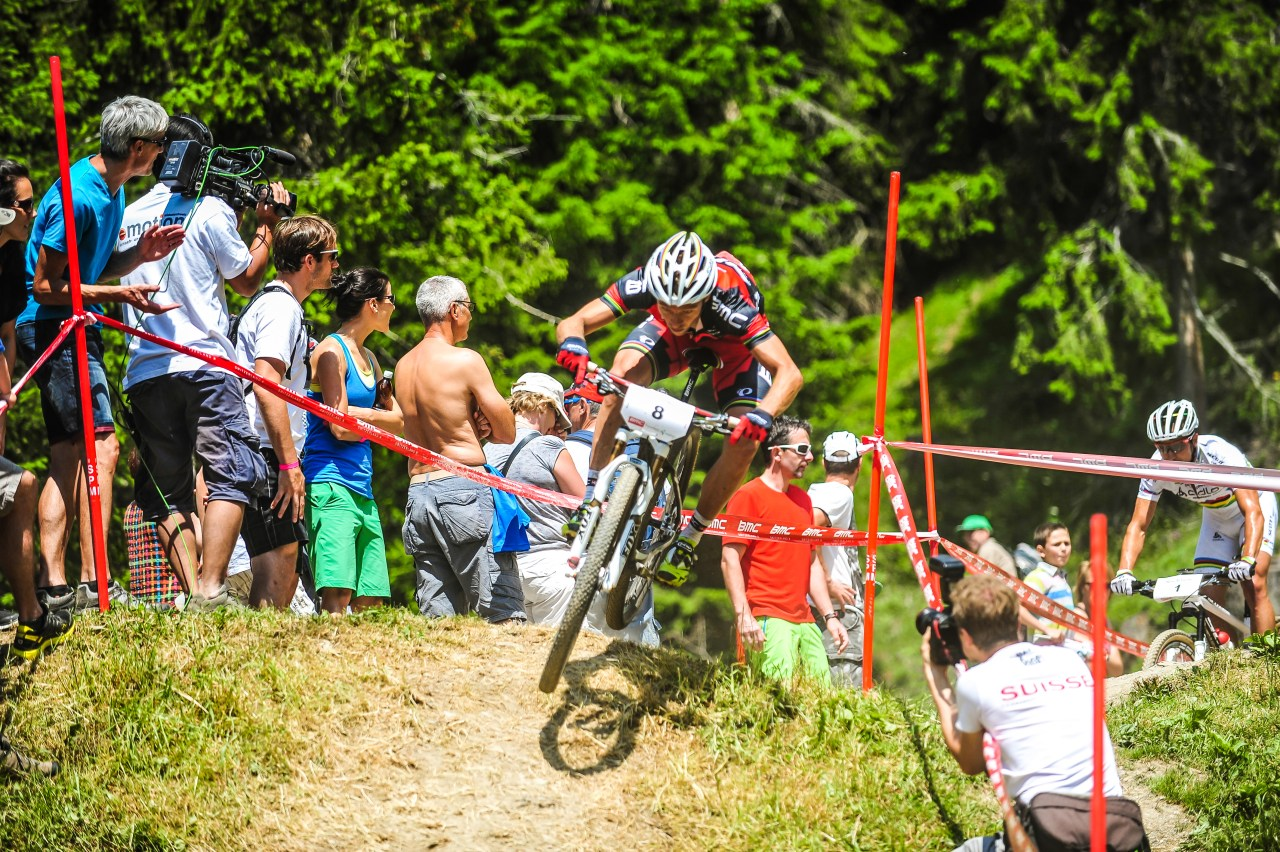 UNDATIERTES HANDOUT - Der UCI Mountain Bike World Cup gastiert vom 3.-5. Juli 2015 in der Ferienregion Lenzerheide. Das Layout der Cross Country Weltcupstrecke wurde beim BMC Racing Cup 2014 erstmals getestet. (PHOTOPRESS/Lenzerheide/Johannes Fredheim)