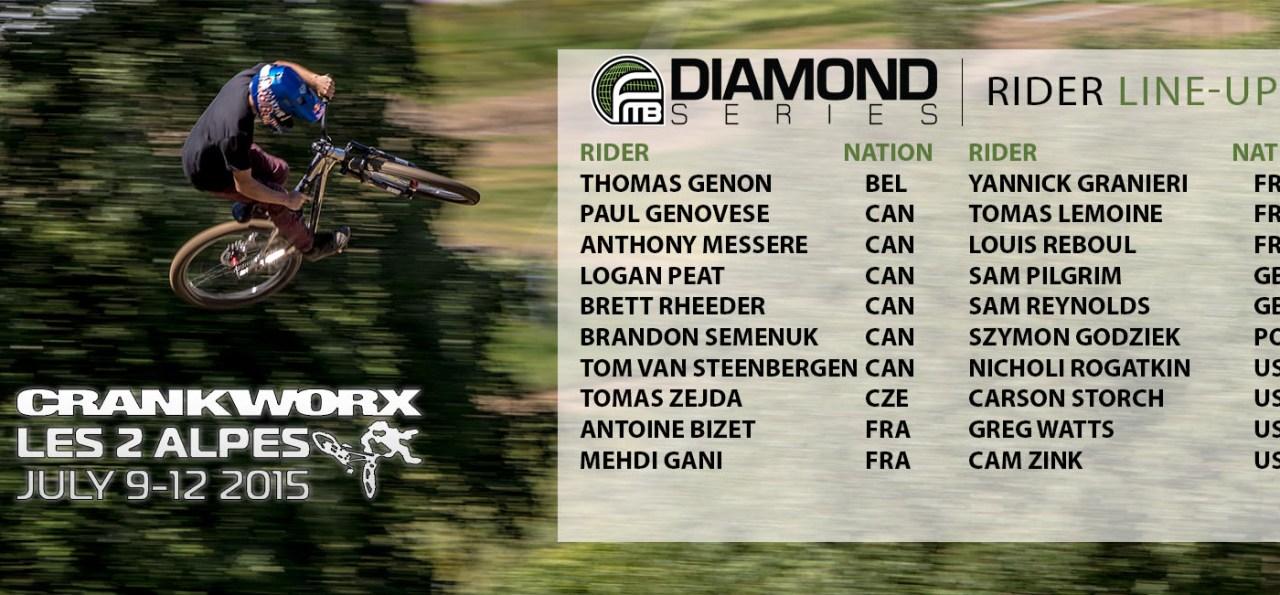 Crankworx Les deux Alpes 2015 Rider Line-up
