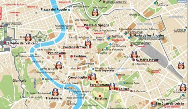 Turistico Español Mapa Turistico De Roma A Pie.Los 10 Imperdibles De Roma El Mundo De Floxie