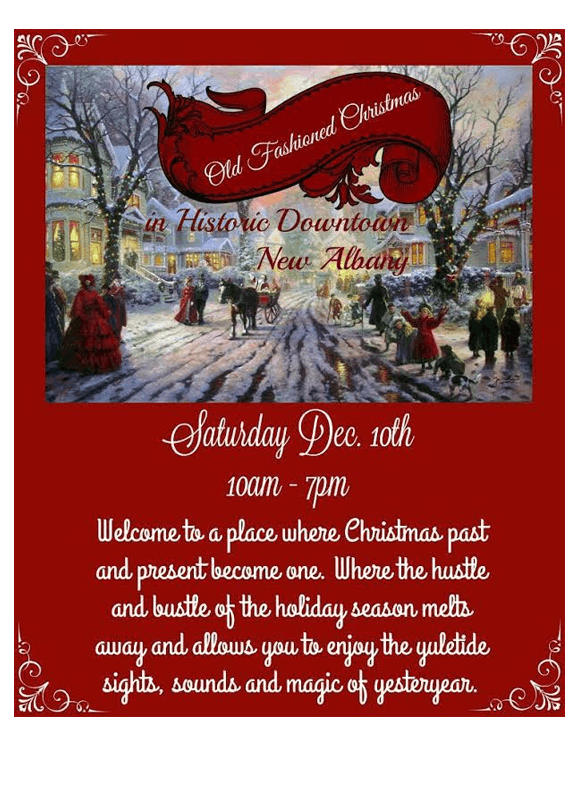Old Fashioned Christmas In Downtown New Albany Community