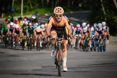 Alec Cowan was in the winning move on Stage 3 and came 4th ©Vincent Drouin - VeloGazette.ca