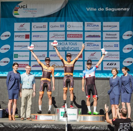 Emile and Stephen go 1-2 at Saguenay Pic: Vincent Drouin - VeloGazette.ca